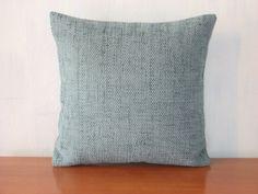 "$15  Blue - Turquoise - Aquamarine - Grey - Velvet - Luxury - Handmade - Throw pillow  - Cushion - Cover - 33 cm x 33 cm (13"" x 13"")"