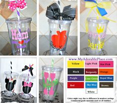 $8.49 Adorable Personalized Acrylic Tumblers - Season's MUST HAVE!!! at VeryJane.com