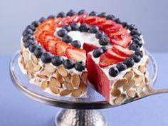 Watermelon Almond Tart #4thofJuly #dessert #recipe
