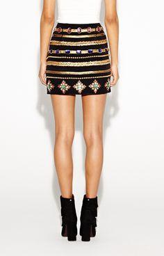 Nicole Miller - Artelier Gilded Ankh Skirt