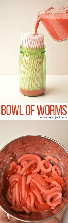 If you're trying to freak someone out with crazy Halloween food or maybe even April Fool's, I can tell you confidently that you HAVE to try this recipe for Jello worms!