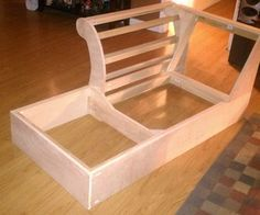 """Build a Chaise Frame from Scratch - my dimensions: 9' long x 42"""" deep x WIDTH - depending on doorway / whether or not you can make back and arms able to be bolted to base frame / whether that is the most sturdy high quality option, if not, then width should be max width of door frame so it is able to be removed from the house  Construct frame initially from styrofoam so changes are easy and you can see what dimensions / pieces you need  Use poplar"""