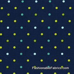 Fabric... Andalucia Tiny Dots in Navy by Patty Young