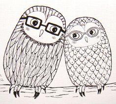 Owl Illustration - Etsy