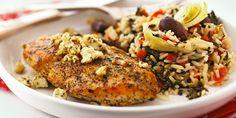 Rice with Greek Chicken recipe