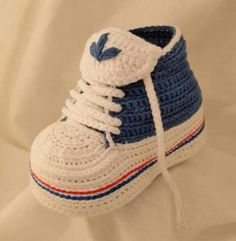 Grazie... Crocheted Baby Sneakers
