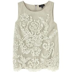 Topshop Sage Lace Top, £40 - In Stores Only   Look ❤ liked on Polyvore