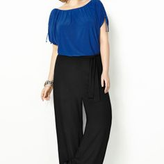 Blue Colorblock Jumpsuit -  Avenue - LOVE, LOVE, LOVE!!!!