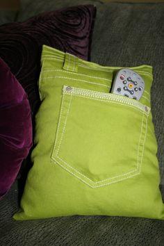 Porte t l phone portable smartphone en charge r utilisation poche jean - Coussin telecommande ...