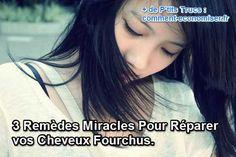 3 Remèdes Miracles Pour Réparer vos Cheveux Fourchus.