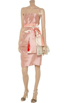 Silk and linen-blend dress by Ports 1961