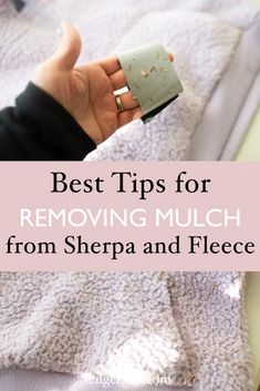 How to Remove Mulch from Fleece - Simple Tips and Tricks. Removing wood chips and mulch from fleece or sherpa can take too much time, I'm going to show you how to clean and keep your clothing in tact and not spend too much time on this chore!