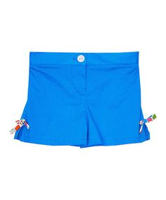 Look what I found on #zulily! Turquoise Bow Shorts - Toddler & Girls #zulilyfinds