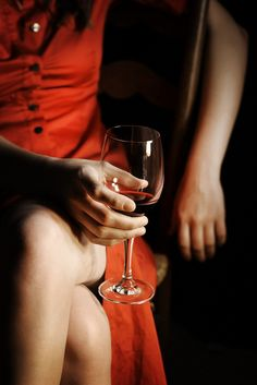 A glass of red wine~~~