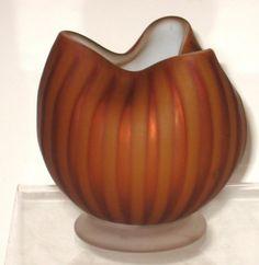 Stevens and Williams rose bowl, : Lot 471 Steven Williams, Rose Bowl, Antique Glass, Decorative Bowls, Glass Art, Pumpkin, Victorian, Antiques, Vases