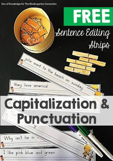 Looking for some fun ways to practice punctuation? Check out these interactive sentence editing strips from the Kindergarten Connection.