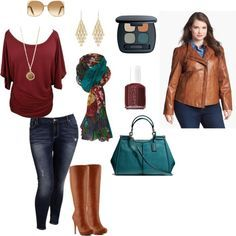 I love this! From the earrings to the handbag...the colors are fantastic, love-love-love the scarf! Great jacket too! I'd wear this - any day!