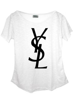 YSL Camiseta em malha flamê (composição: 67%poliéster, 33% algodão).