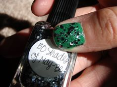 50 Shades of May-Be over CND Green Scene #546