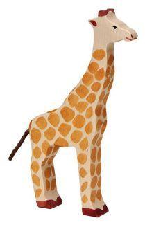 Holztiger Spielfigur Giraffe