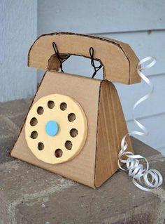 Telefono Vintage de Cartón