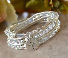 Chinese Crystal Christian Wrap Bracelet