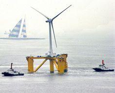 140 turbinas flutuantes serão instaladas ao longo da costa, criando uma opção renovável de energia para os japoneses.