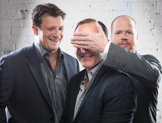 Nathan Fillion, Clark Gregg and Joss Whedon