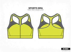 Women Sports Bra Vector Fashion by VecFashion on Creative Market
