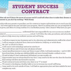 Student Success Contract