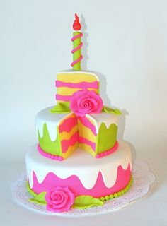 piece of cake cake - how cute is this?