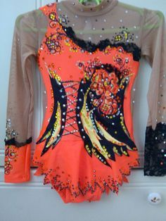 Competition Rhythmic Gymnastics Leotard #ice skating competition #handmade