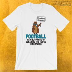 Weekend Forecast Football T-Shirt  ---  Funny Groundhog Novelty: This Football Men Women Kids T-Shirt would make an incredible gift for Meteorology, Weekend Forecast & Touch Down fans. Amazing Weekend Forecast Football Tee Shirt with Cute Cartoon Rodent design. Act now & get your new favorite Funny Groundhog shirt or gift it to family & friends.