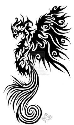 phoenix tribal tattoo - Google Search