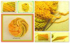 """Vous en avez assez de vos éponges? Tricotez donc un """"Tawashi""""! - La Malle aux Mille Mailles Knitting Patterns, Knitting Ideas, Crochet Baby, Crochet Necklace, Bubbles, Cleaning, Homemade, Wool, How To Make"""