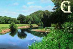 MICHAEL JAMES SMITH - ORIGINAL OIL PAINTING -AN IRISH RIVER