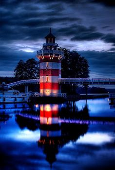 Lighthouse, Rheinsberg, Germany I'd  love  to visit  here  in remembrance  of my aunt  Susan ♡