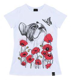 Niti-Niti.ru :: Женская футболка с принтом Мопс в маках