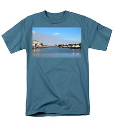 Canal Men's T-Shirt (Regular Fit) featuring the photograph Canal Living by Cynthia Guinn