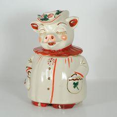 Vintage Shawnee Pottery Winnie the Pig Cookie Jar