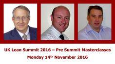 UK Lean Summit 2016 Learning Lean Lean Learning Presummit Masterclasses Monday 14Th November 2016