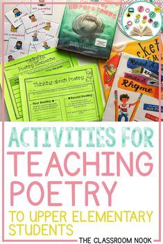 Activities for Teaching Poetry to Upper Elementary Students — THE CLASSROOM NOOK