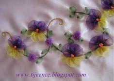 Лента Вышивка - Лента Вышивка - Мои Увлечения: шаг за шагом строительства ленточного вышивкой