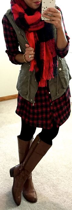 Plaid on plaid. I'll let you borrow my green vest to complete your look.
