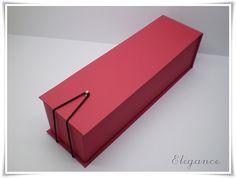 caixa vinho modelo elegance by Conexão Papel, via Flickr