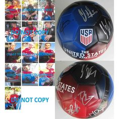 2016 USA Mens National Soccer Team, Signed, Autographed, USA Logo Soccer Ball, a COA with the Proof Photos Will Be Included.