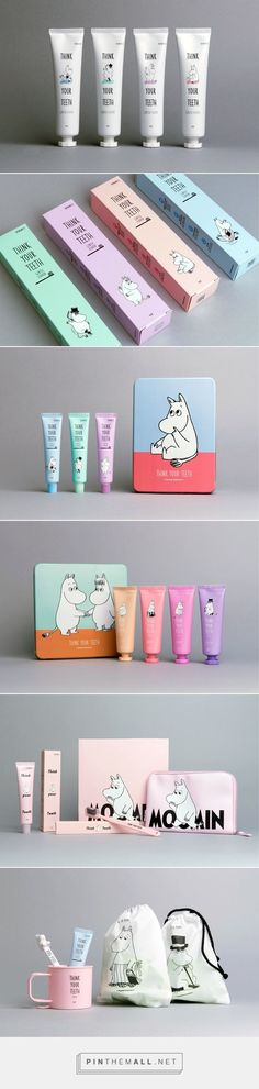 Graphic design, branding and packaging for on Behance by Eggplant Factory Seoul, Korea curated by Packaging Diva PD. Some cute Moomin packaging for the smile file : ) (Beauty Art Smile) Cool Packaging, Print Packaging, Beauty Packaging, Cosmetic Packaging, Graphic Design Branding, Corporate Design, Identity Design, Packaging Design Inspiration, Graphic Design Inspiration