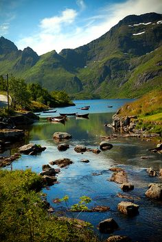 River in Å, Lofoten Islands, Norway