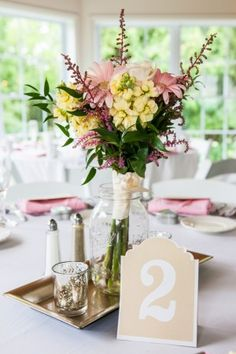 Wedding Centerpiece ~ Caitlinn Mohar-Daniels Photography