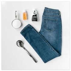 Do you love the fit of a pair of old jeans but wish you could update the color? You only need a few supplies to take that favorite pair of faded jeans and make them new again and it's super simple!